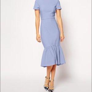[ASOS] Light Blue Pencil/Peplum Skirt - Size 4